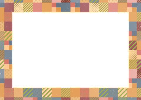 時尚形象冬季色彩圖案背景 2