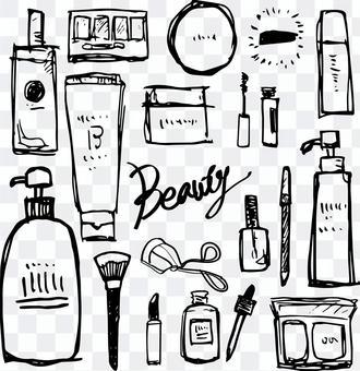 化粧品手描きイラスト