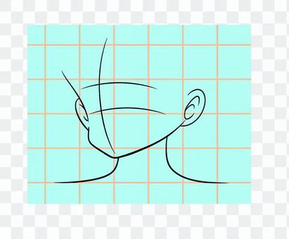 面部輪廓粗參考線藝術