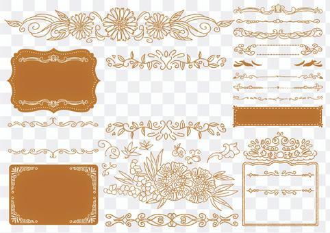 Set material 038 Flower frame set