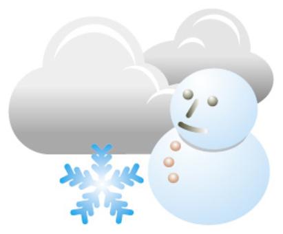 天氣雪圖標