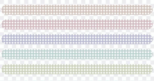 方格布式方格花紋5色套裝