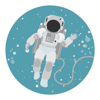 來自太空的宇航員問候