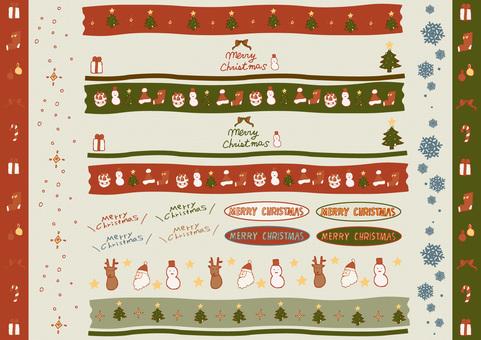 Retro pop hand-painted Christmas set decoration
