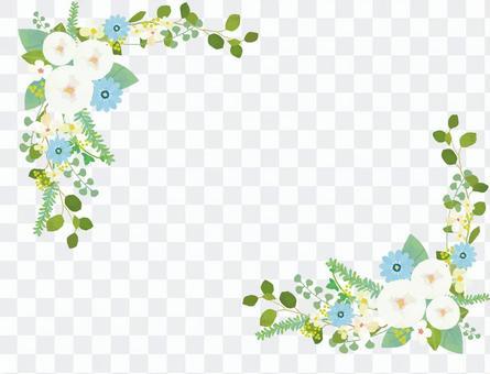 白色的花框架