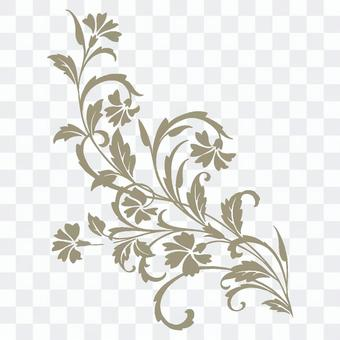 ゴールの花のワンポイント素材