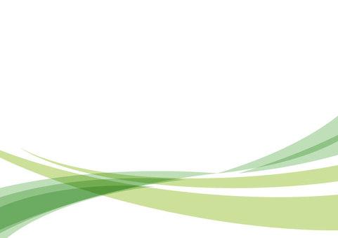 波浪線曲線背景素材(綠色)