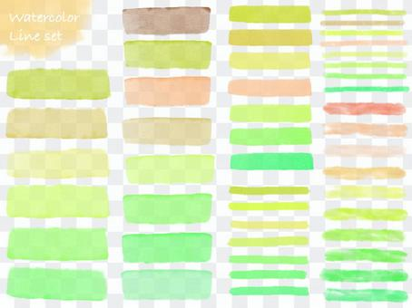 水彩線設置綠色