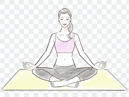 為美麗和健康做瑜伽的女性