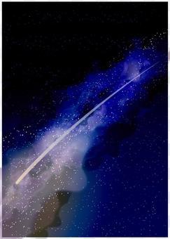 背景(銀河系,繁星點點的天空,彗星)
