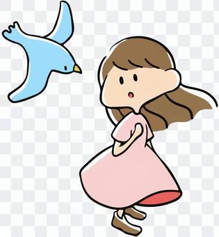 鳥類和女孩