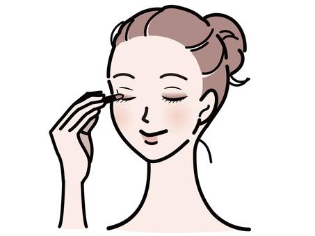 Woman wearing eyeshadow