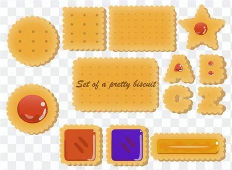 クッキーとビスケットのイラストセット