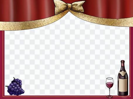 豪华的葡萄酒框架