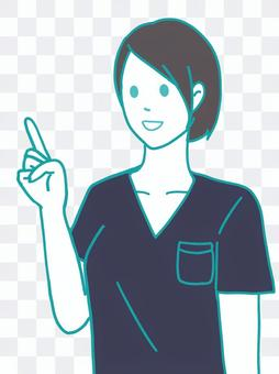 護士護士磨砂海軍