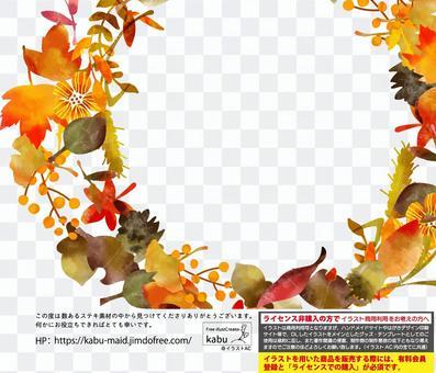 秋季可能使用的背景材料框架