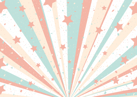 Star confetti concentrated line background