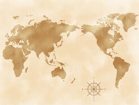 世界地圖復古風格_1