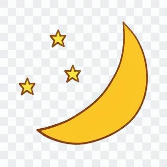 新月和星星