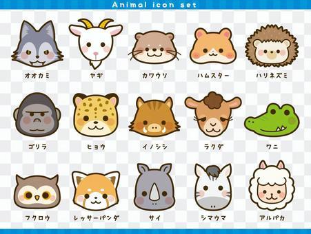 動物的臉只有圖標集