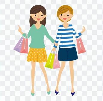 Shopping women 2 people