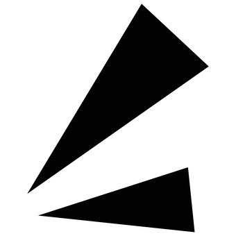 Effect line Two triangles emphasized