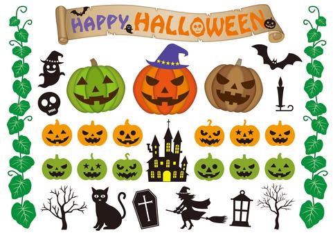 Halloween illustration set 2021
