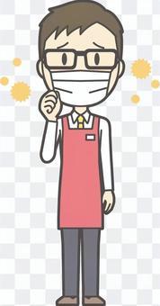 男性スーパー店員-169-全身