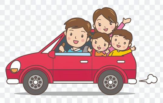 我所有的家庭开车(红色)