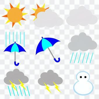 天氣圖標標記材料