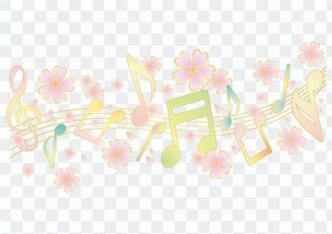 Sparkling Note Line - Cherry