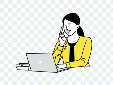 商業場景電話的女人