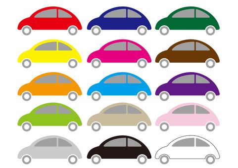 2_插圖(汽車,15種顏色)
