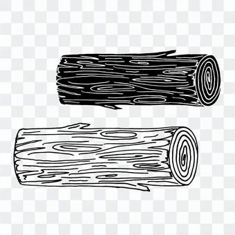 간단한 통나무 벡터