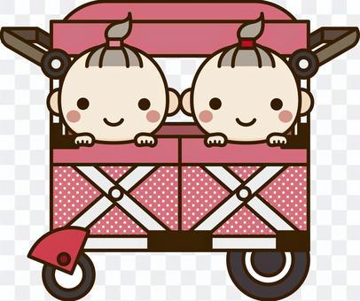 嬰兒推車(雙胞胎)_ girl
