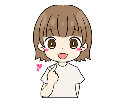 Kyun 棕髮少女