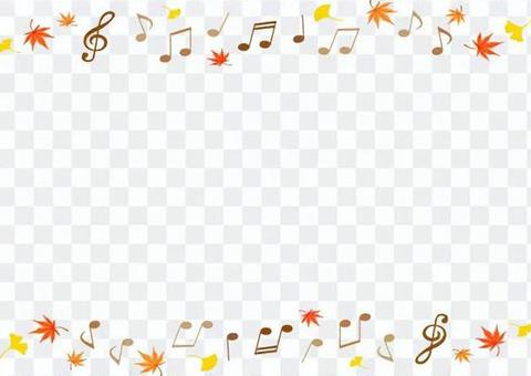 Notes and autumn leaves background