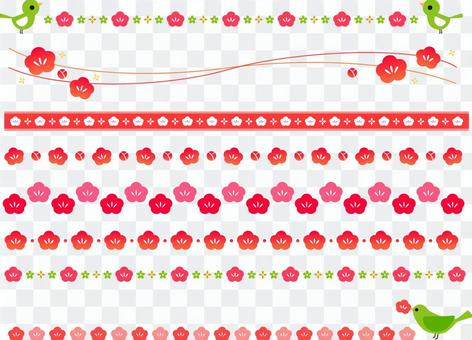 Plum flower line