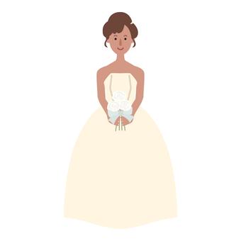 Saki in a bride