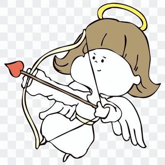 恋の矢を打つ天使
