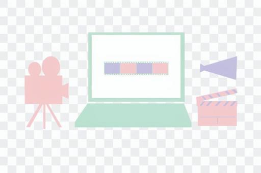 視頻創作的圖像插圖