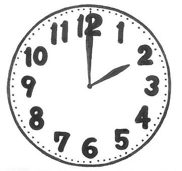 It's two o'clock. Clock clock