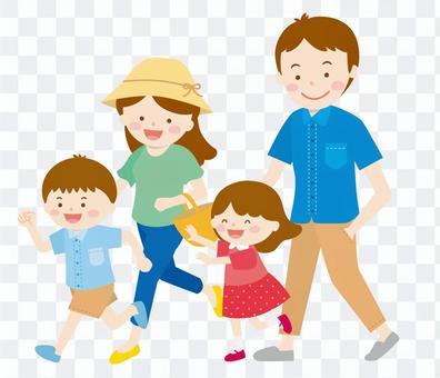 家庭2戶(4人)02_夏季郊遊
