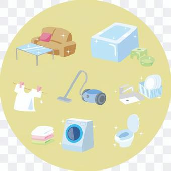 家務清潔洗衣店例證