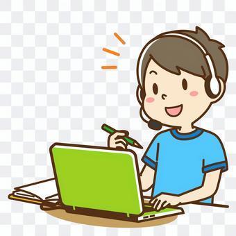 Boys taking online lessons 1