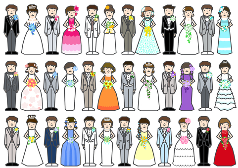 Bride and groom clothing line