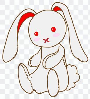 兔毛絨動物(白色)