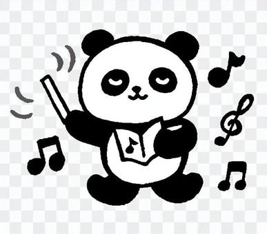 Conductor Panda 3 (monochrome)