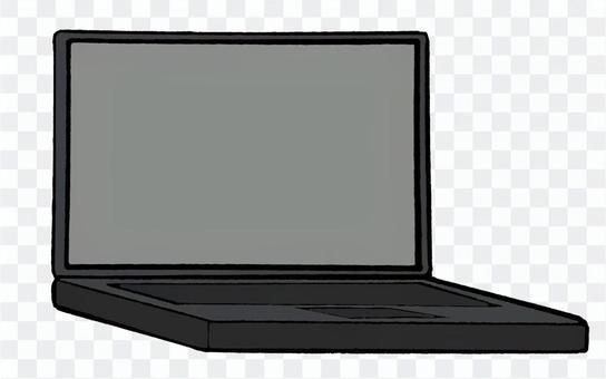黒いノートPC