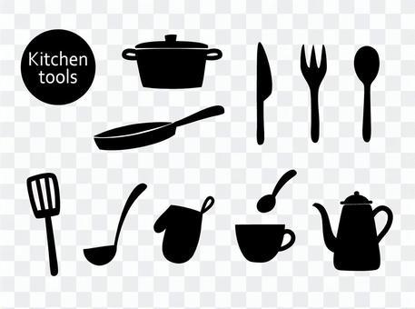 廚房工具(剪影)